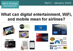 What can digital entertainment mean for airlines Jan 2010 cover
